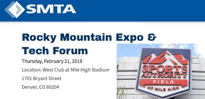 SMTA Rocky Mountain Expo & Tech Forum – Denver, CO