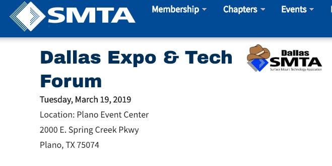 SMTA Dallas Expo & Tech Forum