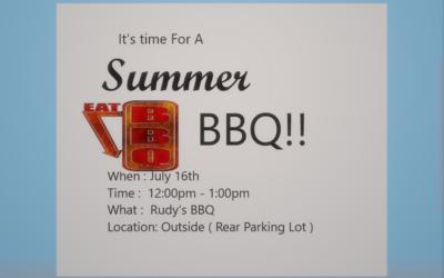Summer BBQ at BPM